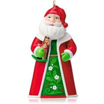 Hallmark Miniature Ornament 2014 Santa The Toy Bringer - #QXM8526
