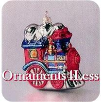 1998 Festive Locomotive - Crown Reflections Blown Glass - QBG6903