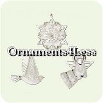 2005 Peace Hope and Joy - Set of 3 Miniature Ornaments - QXM8172