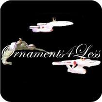 1995 The Ships of Star Trek - Set of 3 Miniature Ornaments - QXI4109 - DB