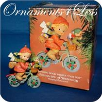 Enesco 1993 Bringing Good Wishes Your Way - Memories Of Yesterday - #592846 - SDB W/ STICKER