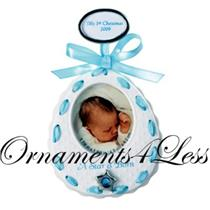 Carlton 2009 Baby Boys - Blue Bib Photo Holder - 09-008V