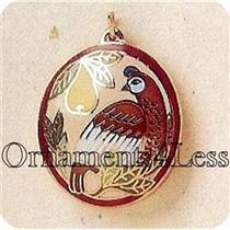 1995 Cloisonne Partridge - Miniature Ornament - QXM4017