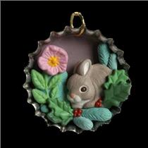 1996 Holiday Bunny - Miniature Club Ornament - QXC4191