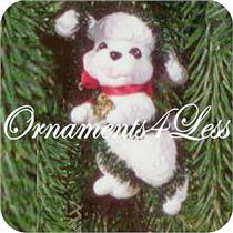 1994 Puppy Love #4 - White Poodle - QX5253 - DB