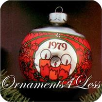 1979 Light Of Christmas - Glass Ball - DB AND ORNAMENT HAS AGED SPOTS