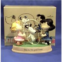 2011 Skip to the Good Times - Peanuts Lucy, Sally and Snoopy Figurine - PAJ4403 - DB