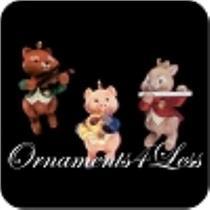1992 Harmony Trio - Set of 3 Miniature Ornaments - ARTIST SIGNED