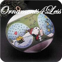 1980 Peanuts - White Satin Ball - QX2161 - NO BOX