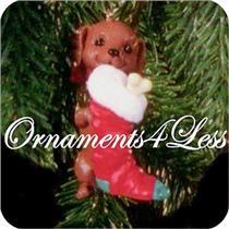 1996 Puppy Love #6 - Dachshund - QX5651 - NEAR MINT BOX