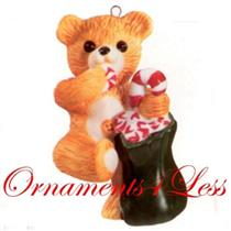 1989 Porcelain Bear #7 - Cinnamon Bear - QX4615