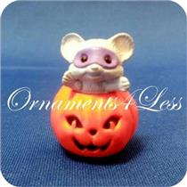 1988 Mouse in Pumpkin with Mask - Merry Miniature