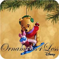 2002 On The Slopes - Winnie the Pooh Miniature Ornament - QXD4553
