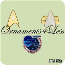 2004 Star Trek Insignias - Set of 3 Miniatures Ornaments - QXM5211 - SDB