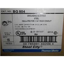 """(Lot of 17)Thomas Betts Grounding Bushings 1-1/4"""" Rigid Conduit #BG 804  NIB"""