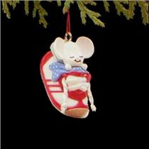 1988 Sneaker Mouse - Miniature Ornament - QXM5711 - DB