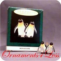 1995 Playful Penguins - Noah's Ark Miniature Ornament - SIGNED BY ARTIST - SDB