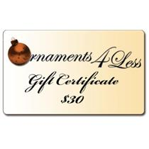 $30 Gift Certificate for Ornaments4Less.com
