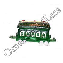 1989 Train Car #3 - Green Car - Merry Miniature