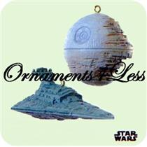 Hallmark Miniature Ornament 2008 Death Star Star Destroyer Star Wars #QXM8151-DB