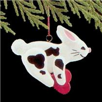 1989 Folk Art Bunny - Miniature Ornament - QXM5692 - NO BOX