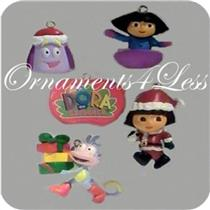 American Greetings 2007 Dora the Explorer Sledding Set of 5