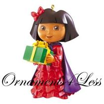 American Greetings 2011 Dora the Explorer - Holding a Green Christmas Present - AGOR1O9Z - SDB