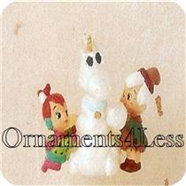 1995  Pebbles and Bamm Bamm - Flintstones Miniature Ornament - DB WITH NO TAG