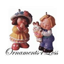 1998 Bashful Gift - Set of 2 Ornaments - #QEO8446 - SDB