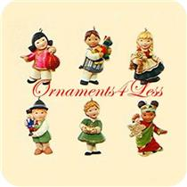 2007 Joy to the World Children - Set of 6 Miniature Ornaments - #QSR8169