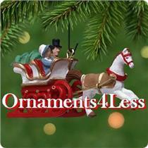 2001 Dashing Through The Snow - Miniature Ornament - #QXM5335