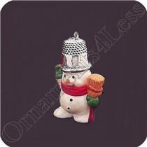 1988 Thimble #11 - Snowman - #QX4054