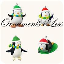 Hallmark Miniature Ornament 2008 Antarctic Antics - Set of 4 Pals - #QXM8347-SDB