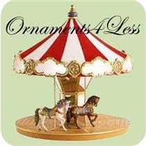 2004 Carousel Ride Display with 2 ornaments - #QX8481 - DB