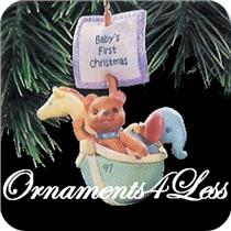 1997 Babys First Christmas - Bear in Noah's Ark - #QX6485