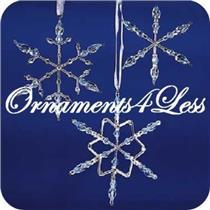2001 Frostlight Blue Beaded Snowflakes (Blue) - Frostlight Faeries - #QP1712