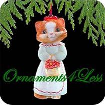 1989 Christmas Kitty #1 - #QX5445 - SDB