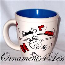 2011 Live Life One Game at a Time - Charlie Brown and Snoopy Playing Baseball Mug - #PAJ4418