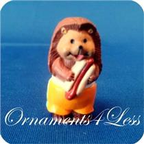 1993 Hedgehog Eating a Hotdog - Merry Miniature - #QSM8026