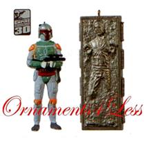 Hallmark Miniature Ornament 2010 Boba Fett and Han Solo - Set of 2 #QXM9016-SDB