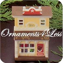 1985 Nostalgic Houses and Shops #2 - Old Fashioned Toy Shop - #QX4975 - SDB
