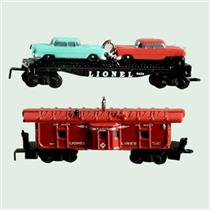 2001 Lionel Norfolk and Western #3 - Car Carrier and Caboose Mini Set - #QXM5265