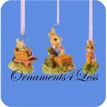 1997 Bumper Crop - Set of 3 Tender Touches Spring Ornaments - #QEO8735 - DB