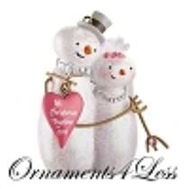 Carlton 2012 1st Christmas Together - Snow Couple Bride and Groom - CXOR065B-SDB