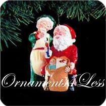 Hallmark Ornament 1991 Mr and Mrs  Claus #6 - Checking His List - #QX4339-SDB