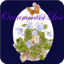 1995 Hallmark - Violets and Butterflies - Nature's Sketchbook - #QK1079 - SDB