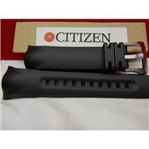 Citizen Watch Band BN5048-01E Black Rubber Strap. Compass Altimeter Watchband