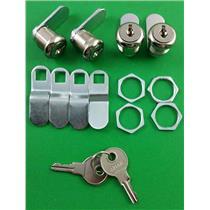 """RV Motorhome Trailer Storage 5/8"""" Door Cam Lock Set Of 4 18-3310"""