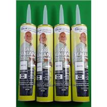 Dicor Lap Sealant White RV Camper Rubber Roof Repair Self Leveling 501LSW 4-Pack