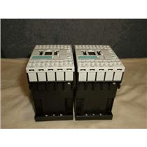 2 Siemens 3RH1131-2AK60 Contactors w/ 3ZT 1916-1BC00 Varistor(1)